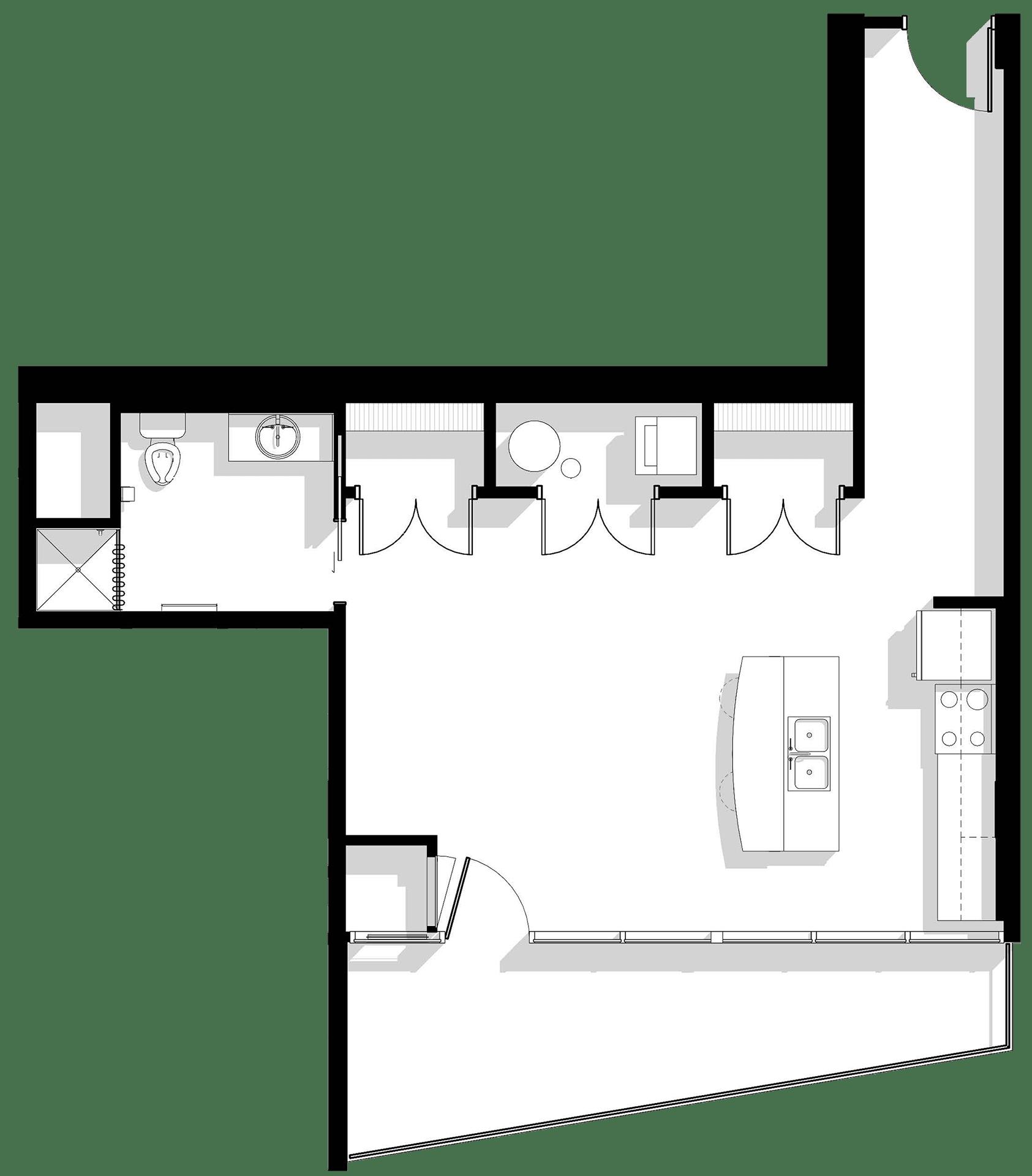 Type B; unit 18 8th-14th Floors