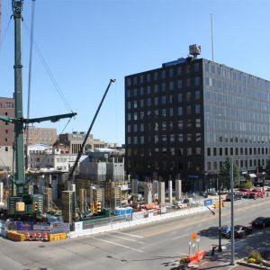 Exchange Building Construction Big Crane Photos