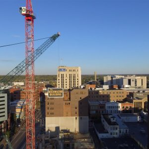 Exchange Building Construction Drone Photos