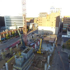 Exchange Building Construction Drone Photos